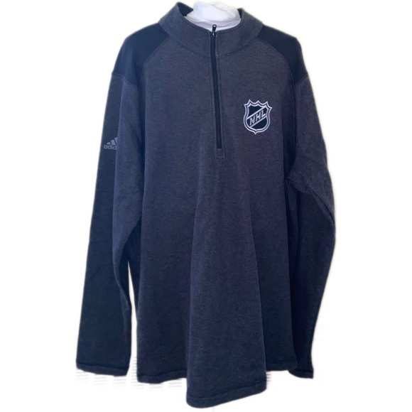 Adidas NHL Grey Pullover Quarter Zip - XL